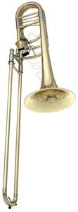 Edwards B454-E Trombón Bajo Transpositores Axial Flow Open Wrap Campana Yellow Brass