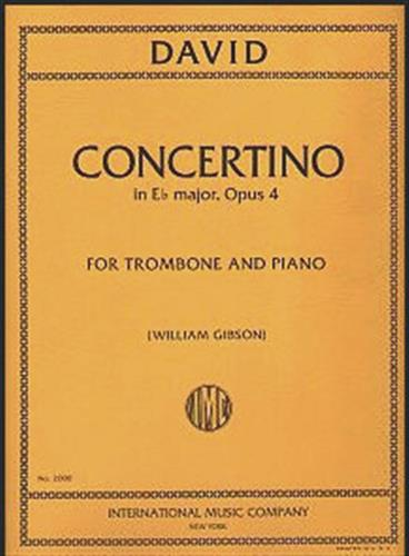 Concertino in Eb.Major Op.4 - David, Ferdinand - International Music Comany